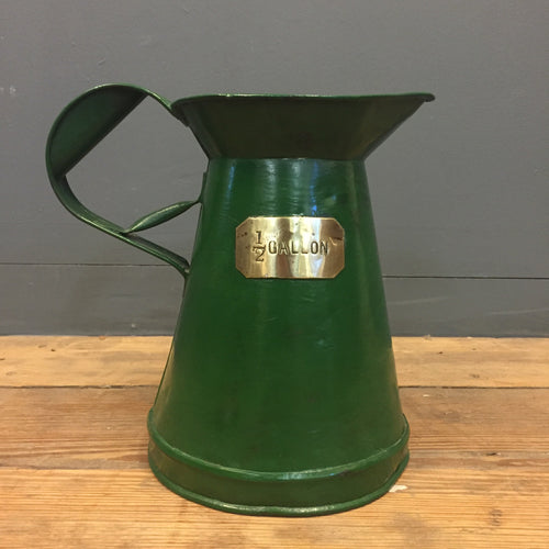 1/2 gallon jug vintage water jug green painted