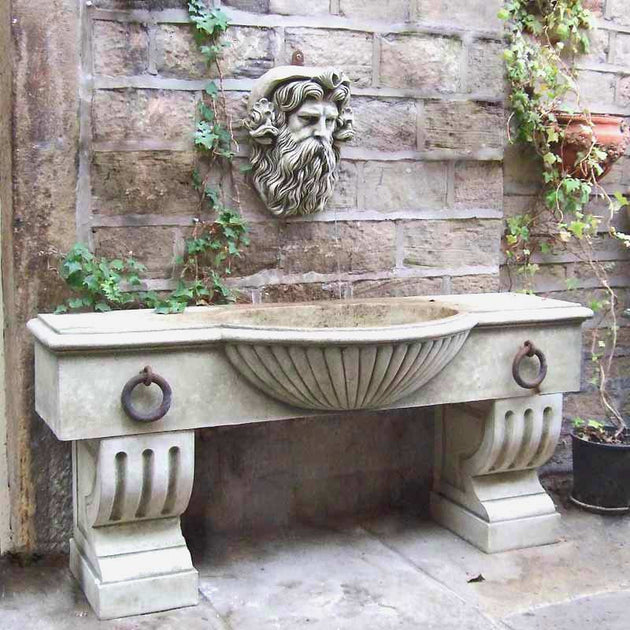 horse trough wall fountain