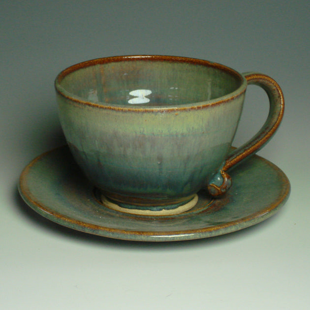 Interlude Pottery Cappucinno Cup and Saucer