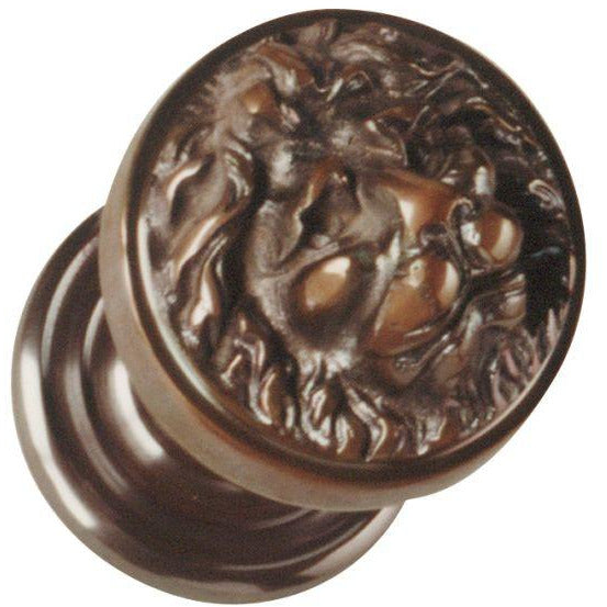 bronze lion head door knob handle