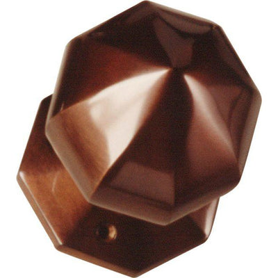 Octagon Centre Knob Bronze