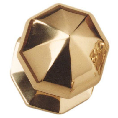 Octagon Centre Knob Brass