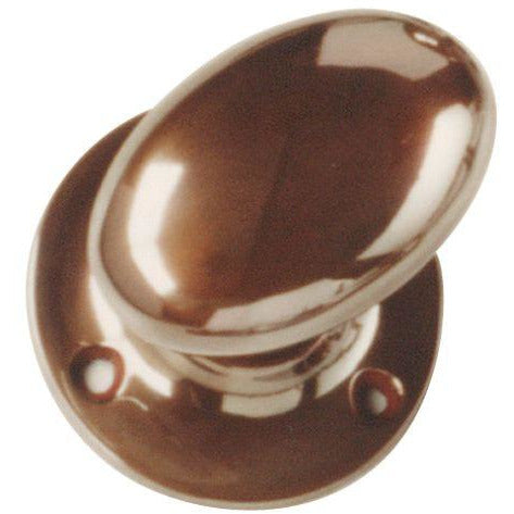 Bronze Oval Mortice Knob