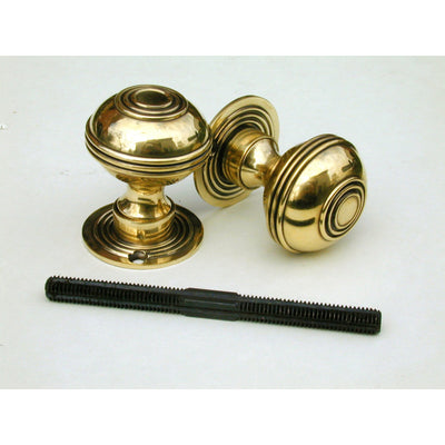 Bloxwich Door Knob in Brass or Nickel