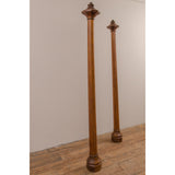 Oak Arts and Crafts Candlesticks