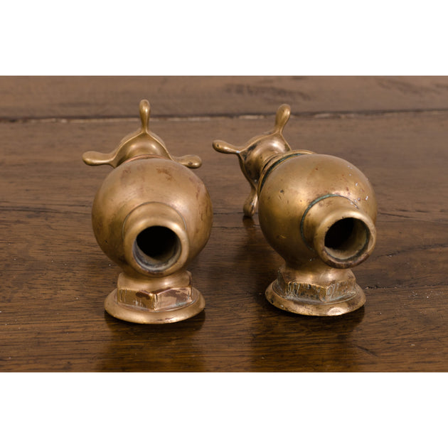 Antique Brass Globe Taps (J A Pattinson)