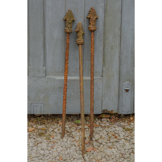 Cast Iron Stakes with Decorative Finial