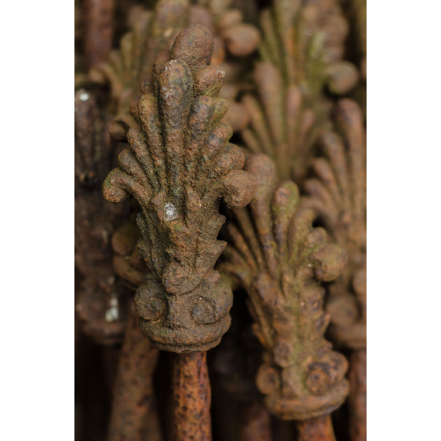 Cast Iron Stakes with Decorative Finial in the form of a stylised Anthemium