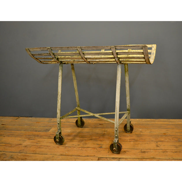 Wheeled iron trolley