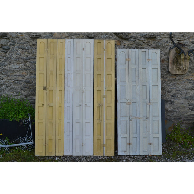 reclaimed antique georgian pine shutters