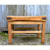 Antique butchers block