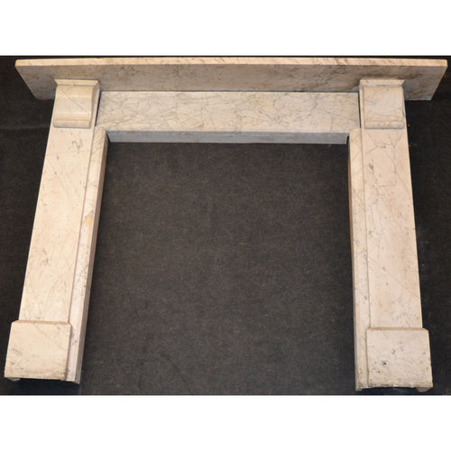 antique carrara marble fire surround