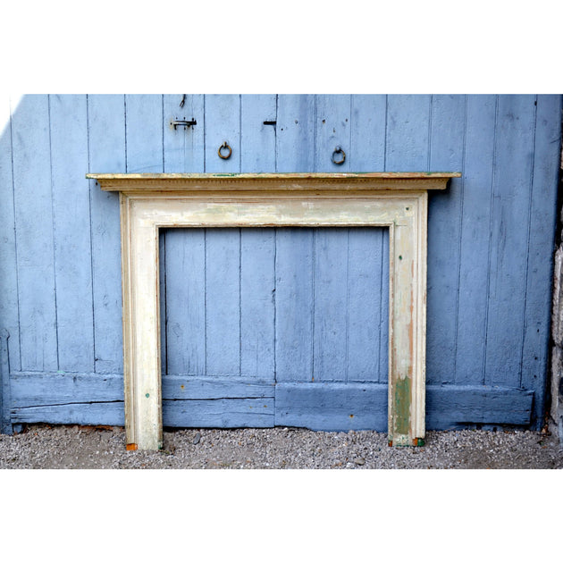 Pine and Gesso Fire Surround