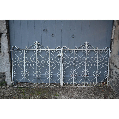 salvaged garden gates, reclaimed steel double gate