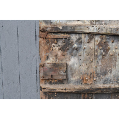 A rare early studded wooden door. Westmorland 17th century farm door