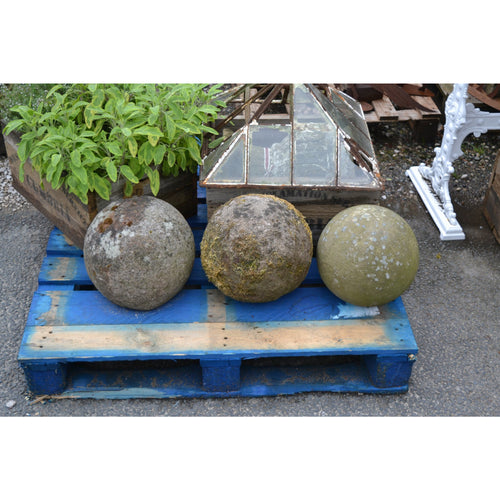 hand carved antique stone balls garden decoration driveway balls, lantern cloche