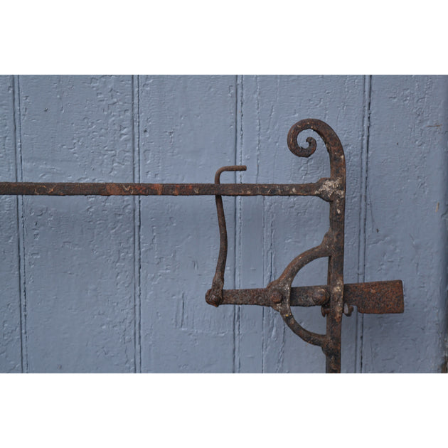 An antique Georgian wrought Iron field or driveway gate.