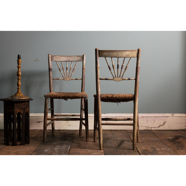 A Pair of Painted Chairs