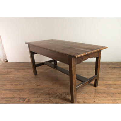 An Antique French Chestnut Kitchen Table