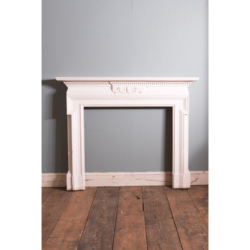 19thC Painted Pine Fireplace Surround
