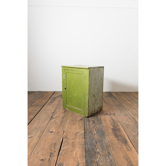 Green Painted Pine Cupboard