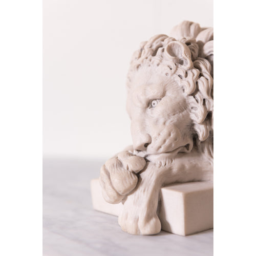 A Pair of Cast Marble Lions after Canova