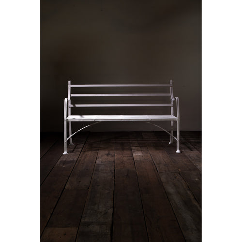 Regency Reeded Wrought Iron Garden Bench
