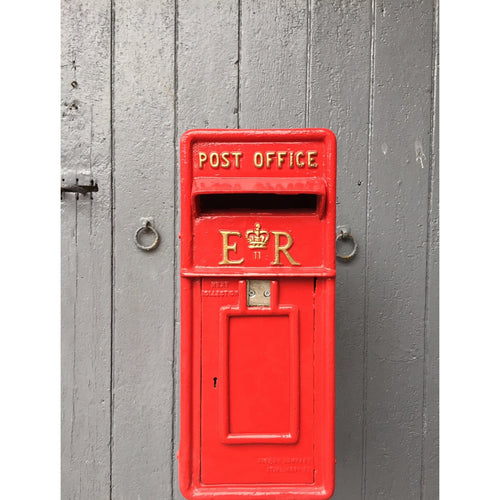 Red ER II Royal Mail Post Box