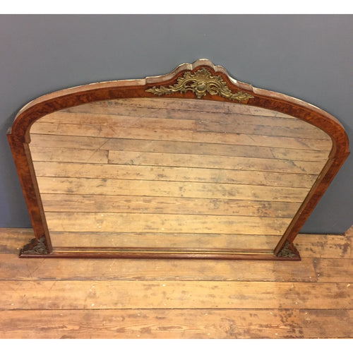 Antique Over-mantle mirror