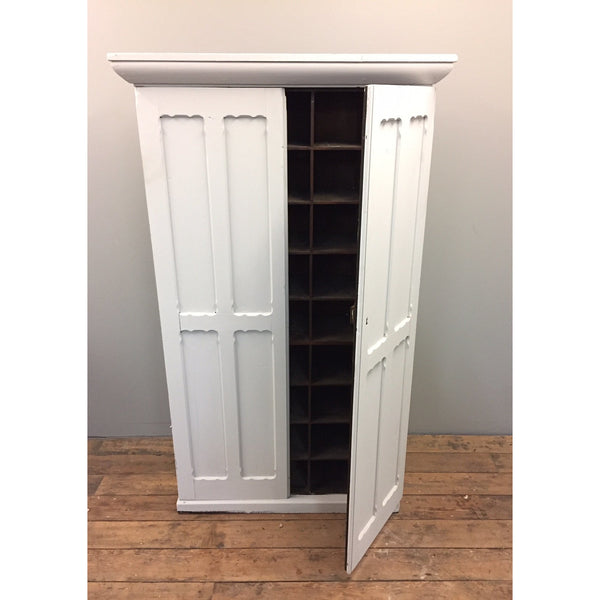 antique painted pine cupboard with pigeonholes