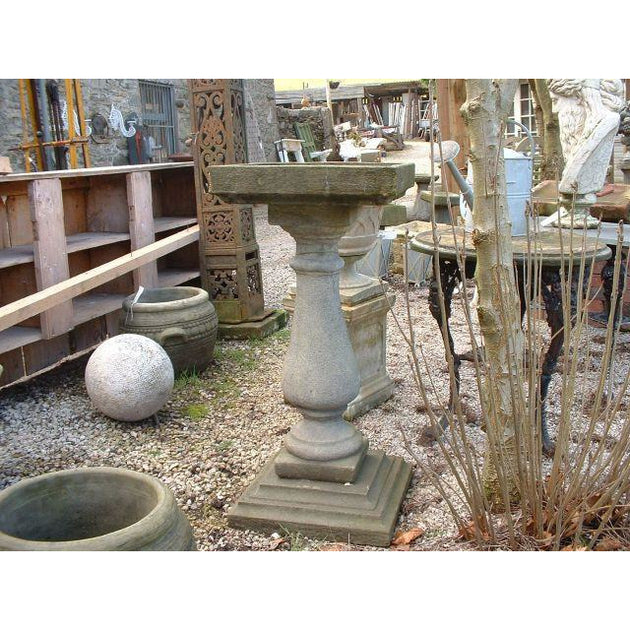 Large baluster bird bath