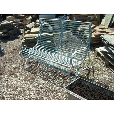 two seater english made garden bench strapwork