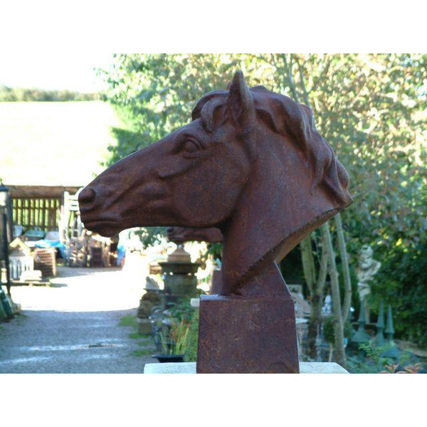 cast iron Horse head sculpture