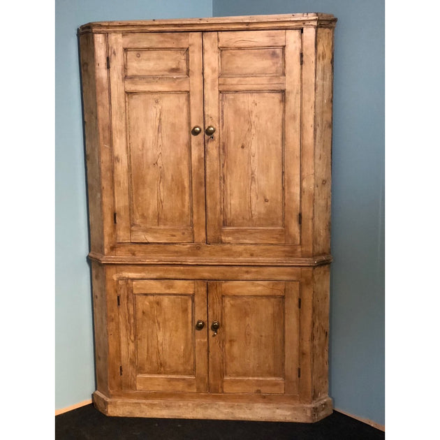 Large Pine Corner Cupboard