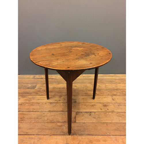 Antique Cricket table with an Elm top