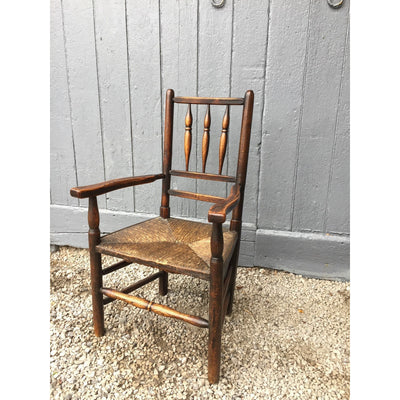 Antique North Country Spindle Back Arm Chair