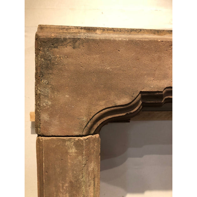 Early Carved Red Sandstone Fire Surround