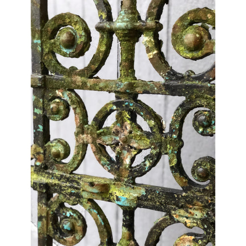 Weathered Cast and Wrought Iron Gate Panel