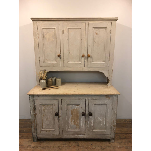 original paint pine kitchen dresser, country house antiques