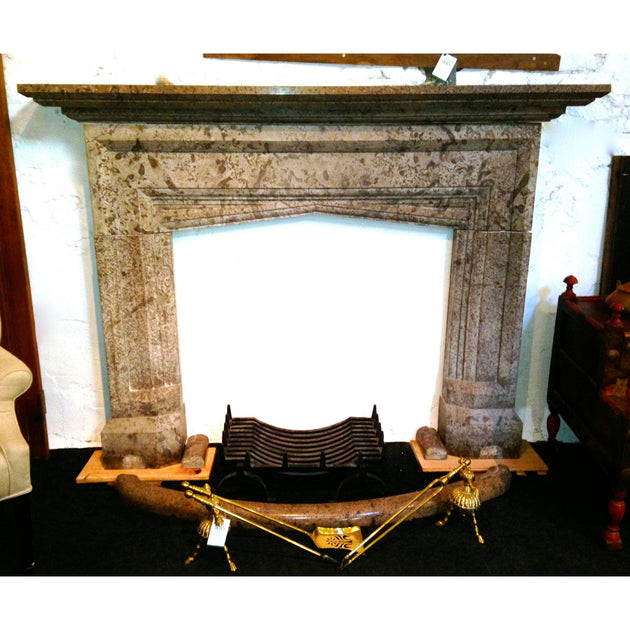 antique dent marble fire surround chimney piece