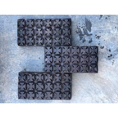 Blue Black Maltese Cross Stable Floor Bricks