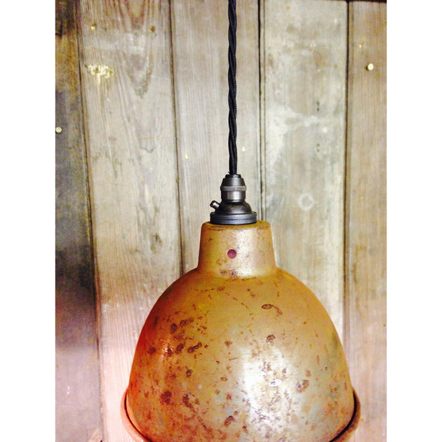 vintage pendant lighting hanging rust