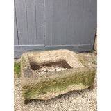 recliamed limestone trough. Antique garden water trough planter
