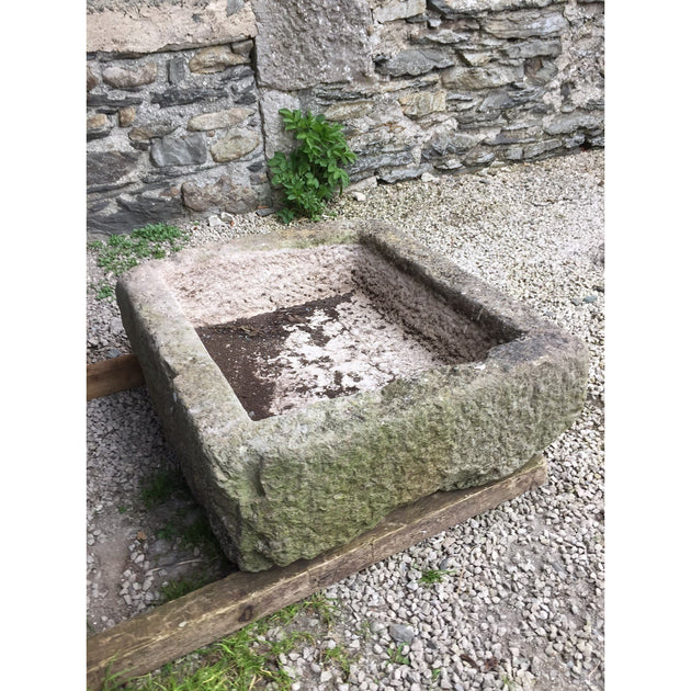 Antique stone trough, reclaimed garden trough planter for alpines