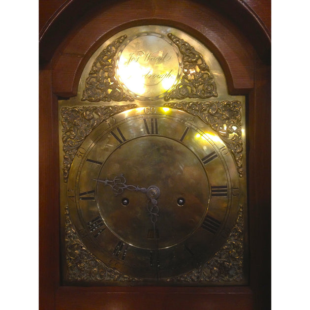 Pine long case clock