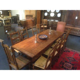 Eight fruitwood chairs