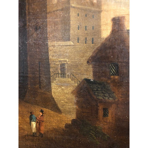 Late 18thC Oil Painting of Lancaster Castle
