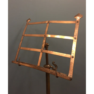 Art nouveau copper music stand