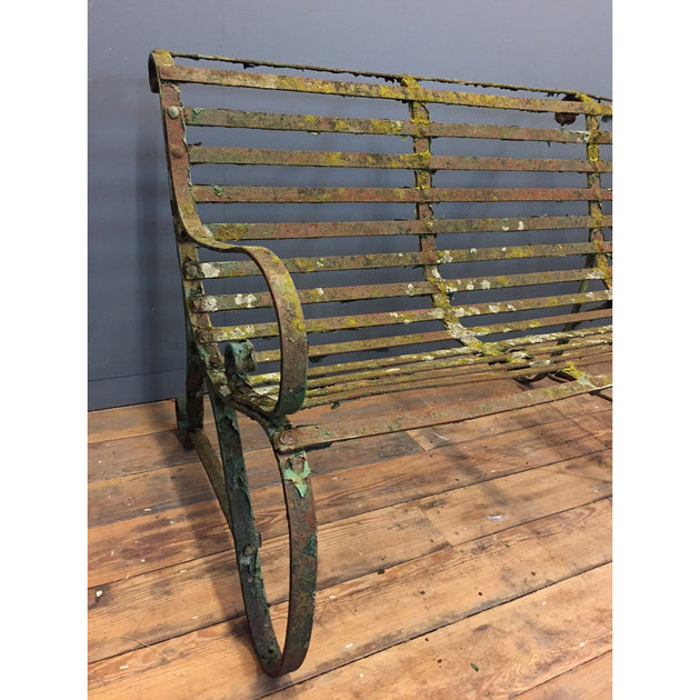 Superb Antique Wrought Iron Garden Bench Yew Tree Barn Gmtry Best Dining Table And Chair Ideas Images Gmtryco