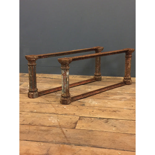 cast iron table base legs coffee table reclaimed salvaged